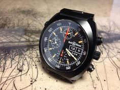 Bell & Ross Space 1 Sinn 142 PVD With Lemania 5100