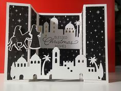 cased from Sandi's bridge tutorial: http://stampinwithsandi.com/create-bridge-card/. Used Night in Bethlehem bundle