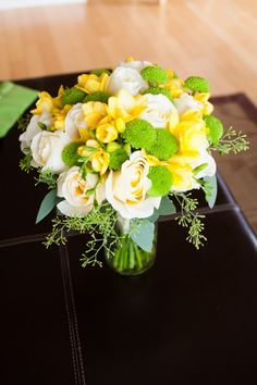 Beautiful roses, freesia, chrysanthemums, seeded eucalyptus  Flower Lantern