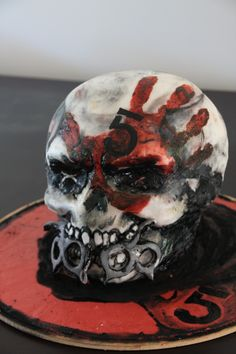 grooms cake Five Finger Death Punch Two Fat Hens Bakery