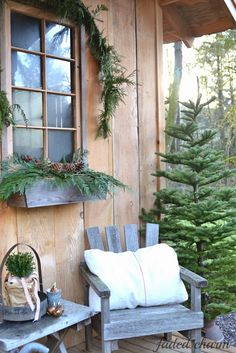 Faded Charm: ~Christmas on the Garden House Porch~