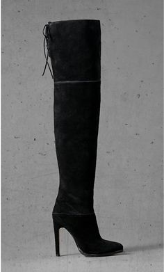 b2e51c0e82 Black Suede Express Edition Thigh High Boot Thigh High Boots