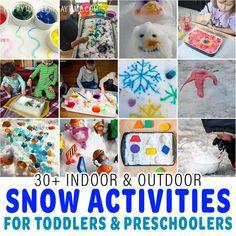 Toddler Preschool, Toddler Crafts, Toddler Activities, Fun Winter Activities, Curious Kids, Painting Snow, I Love Winter, How To Make Snow, Build A Snowman