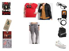 """In A Deadpool Mood"" by chrissy-cdm ❤ liked on Polyvore featuring Marvel, L.L.Bean, maurices, Sennheiser, Sandisk, Forever 21, DK, CO and Converse"