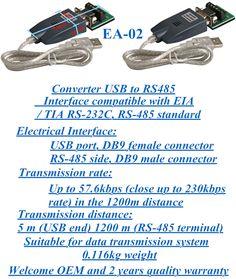 Data transmission converter USB to RS485 EA-02