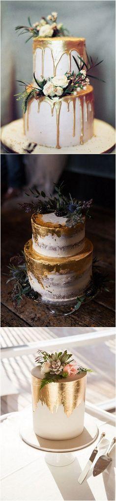 Metallic wedding cakes for 2018 #wedding #weddingcakes #weddingideas
