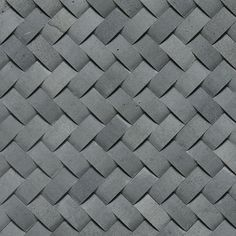 """Limestone Collection"" by Daltile:  Basketweave Mosaic shown in Honed Urban Bluestone."