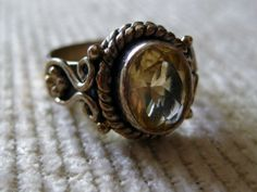 Handcrafted 1.5Ct Genuine Awesome Citrine Sterling Silver Ring Size 6.5  5grams