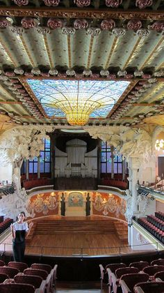 El Palau de la Música Catalana by Lluís Domènech i Montaner, it was built between 1905 and 1908 for the Orfeó Català. It was inaugurated February 9, 1908. Catalonia | Europe