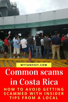 Common scams in Costa Rica and how to avoid them with our tips from a local. Click through to read: https://mytanfeet.com/costa-rica-travel-tips/costa-rica-tourist-scams/ Costa Rica | Costa Rica travel tips | Costa Rica travel blog
