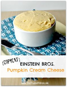 Einstein Bros Copycat Pumpkin Cream Cheese Recipe - Delicious and simple with only 4 wholesome ingredients! My kids love this as a dip or spread!