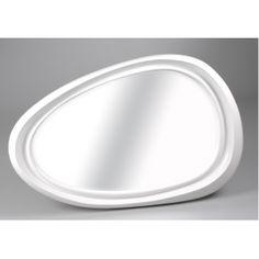 Miroir design oval laqué blanc  Amadeus