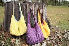 Runaround Bag Pattern - great for  presents, longer handle for cross body bags