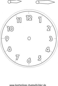 Uhr Vorlage zum basteln Preschool Learning Activities, Kids Learning, Maila, Rustic Wall Clocks, Diy Clock, Learning Styles, Gifts For Office, Telling Time, Math Resources