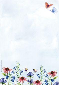 Postpapier 24 vellen A4 Bloemen/vlinders - Floris - Postpapier enzo Cool Backgrounds, Wallpaper Backgrounds, Iphone Wallpaper, Roses Tumblr, Picture Borders, Scrapbook Paper, Scrapbooking, Printable Designs, Printables