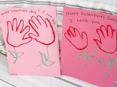 Child Care Provider: Valentines Day Crafts- For Toddlers and Preschoolers Handprint Flowers