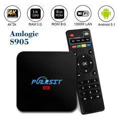 Puersit Android 5.1 Quad Core 4k WIFI Tv Box Q2 Pro Amlogic S905 HD 1080P Core-A53 ,H.265