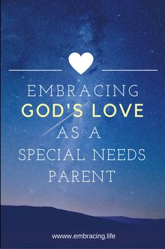 When special needs parents feel like life is unfair, a glimpse into God's own parenting heart shows us just how much he loves us.