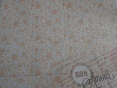 feuille fleurs /écriture 30 x 30 cm pour scrapbooking ,carterie....... : Papiers et albums par elyse-passion-crea