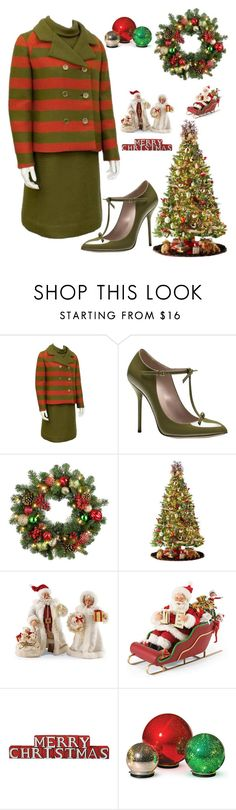 """Holiday Vintage Fashion"" by kotnourka ❤ liked on Polyvore featuring Gucci, Improvements, General Foam and vintage"