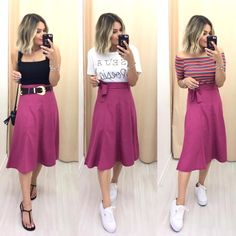 Best Casual Outfits, Pink Outfits, Curvy Outfits, Modest Outfits, Cool Outfits, Summer Outfits, Look Fashion, Fashion Outfits, Womens Fashion