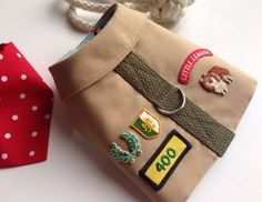 Pup Scout Dog Vest Harness, love the patches!