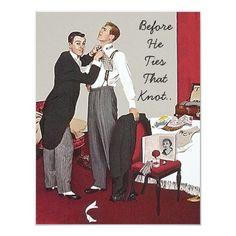 Retro Style Bachelor Party Invitation Announcement