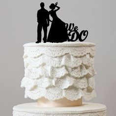 Romantic We Do Cake Topper (Beautiful Bride Groom /Wedding Engagement) – CHARMERRY