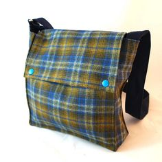 Wool flannel purse by Wooly Bison
