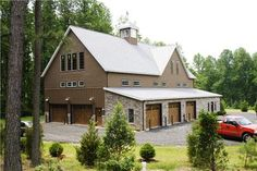Imagine this garage! With the man cave upstairs! Garage House, Barn Garage, Dream Garage, Garage Studio, Garage Shop, Metal Building Homes, Building A House, Garage Design, House Design