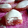 calissons à la cerise Chip Cookies, Cupcake Cookies, Fun Desserts, Dessert Recipes, Bisquick Recipes, Friend Recipe, Almond Cookies, Food Humor, Sweet Cakes