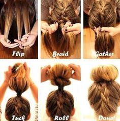 Must try this #hair #plaits #donut #bun