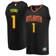 1809b9cb1 Trae Young Atlanta Hawks Fanatics Branded Youth 2018 NBA Draft First Round  Pick Fast Break Replica Jersey Black – Icon Edition