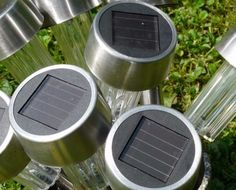 http://bestoutdoorsolarlights.com/  Solar lights don't cause any pollution or leave any carbon footprint as they don't use any electricity.