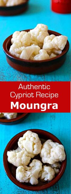 Moungra is a traditional Cypriot mezze which consists in cauliflower pickled in fermented bread dough and typically served on Clean Monday. #vegetarian #cyprus. #196flavors
