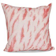 E by Design Shibori Stripe Geometric Print 26-inch Pillow