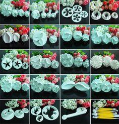 Fondant Cake Decorating CARNATION Flower Cutter Plunger