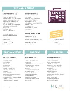 Healthy School Lunch and Snack Ideas for Kids - Recipes Lunch Box Notes, School Lunch Box, Bento Box Lunch, Lunch Snacks, School Lunches, Back To School Printables, Toddler Meals, Kids Meals, Cold Lunches