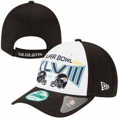 New Era Seattle Seahawks vs. Denver Broncos Super Bowl XLVIII Dueling Helmets 9FORTY Adjustable Hat