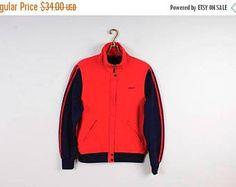 EN venta rojo ADIDAS chaqueta chaqueta azul oscuro rojo Vintage caliente Cazadora  deportiva Hipster chaqueta recortada 703ddfc9062