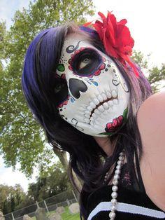 DIA De Los Muertos Art   dia de los muertos by suedec traditional art body art cosmetic ...