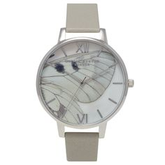 Olivia Burton Woodland Butterfly Wing Grey and Silver