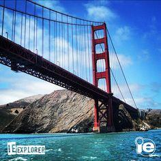 A Golden Gate é um dos principais símbolos da Califórnia e uma das sete maravilhas do mundo moderno. Quando for a San Francisco, a foto é obrigatória! :) #ieexplorer