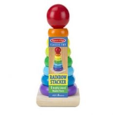 Introduce your child to the fun and award-winning Melissa & Doug Rainbow Stacker Classic Toy. Toys For 1 Year Old, Traditional Toys, Whole Earth, Tower Design, Stacking Toys, Farm Toys, Melissa & Doug, Toys Shop, Classic Toys