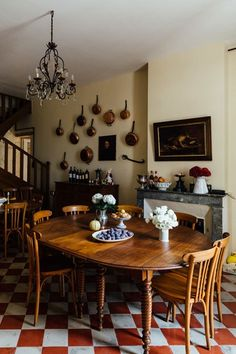Eating Area. Interiors of the home of food writer Mimi Thorisson - which she shares with husband, 7 children and 9 dogs. Interior design inspiration from real homes on House & Garden.