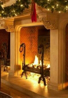 Gorgeous tall deep fireplace, a must have!