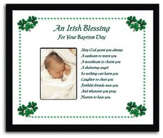 Baptism Gift - Irish Blessing - You Add a Favorite Photo on Etsy, $39.99