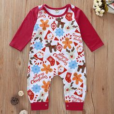 China Wholesale Online, Buying Chinese Products Wholesale kids jumpsuit christmas clothing set new year suit santa claus biscuit printed long sleev Winter Baby Clothes, Baby Winter, Autumn Clothes, Summer Clothes, Newborn Christmas, Baby Girl Christmas, Baby Outfits Newborn, Baby Girl Newborn, Christmas Look