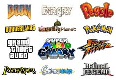 well known game title logos