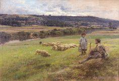 Léon Augustin Lhermitte, 1892 - Berger et son troupeau.jpg